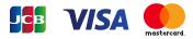 使用可能クレジットカード、VISA、JCB